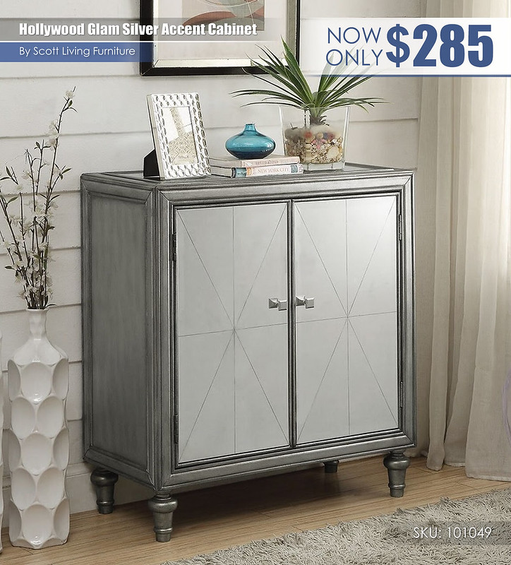 Hollywood glam silver accent cabinet_Scott Living_101049
