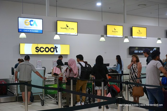 Gold Coast Airport Scoot Check-in Counters