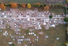 Über dem Sauerländer Friedhof vor Allerheiligen