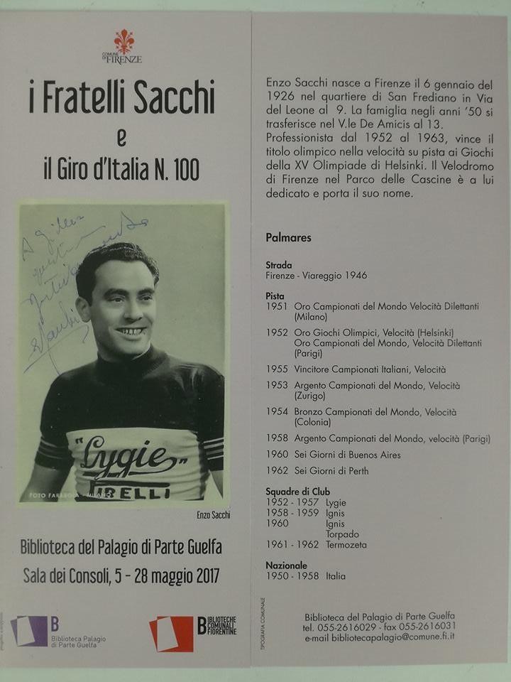 I fratelli Sacchi e il Giro d'Italia n. 100