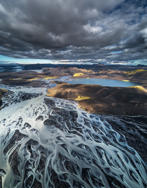 Braided River System in Iceland