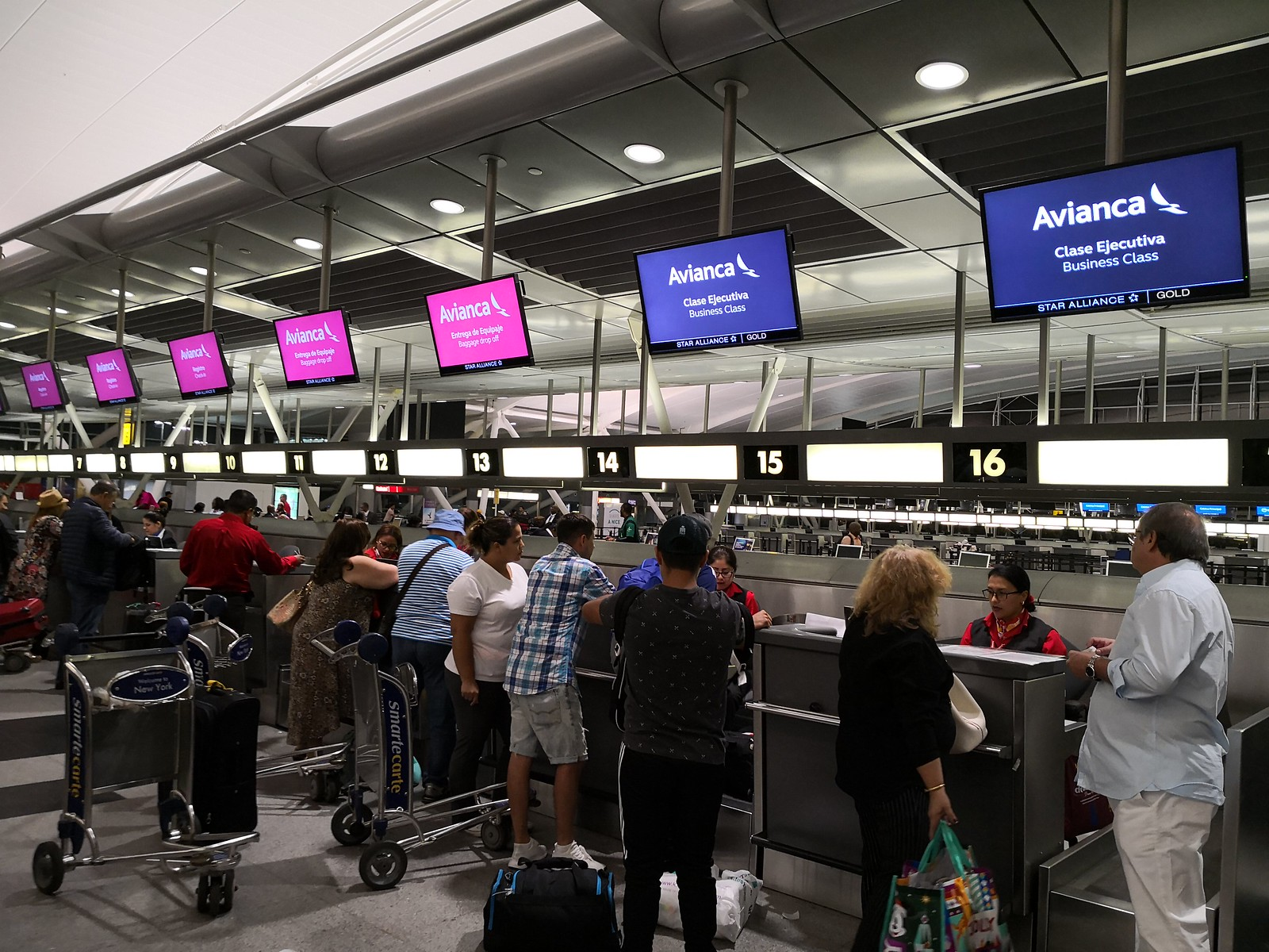 Avianca check-in counters
