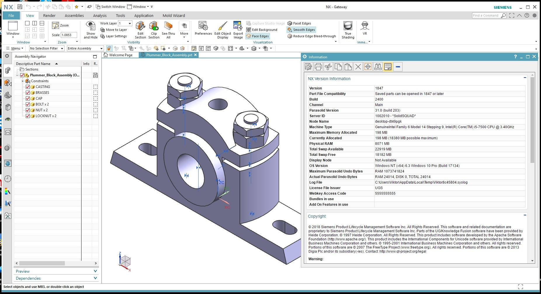 Design with Siemens NX 1847 full license