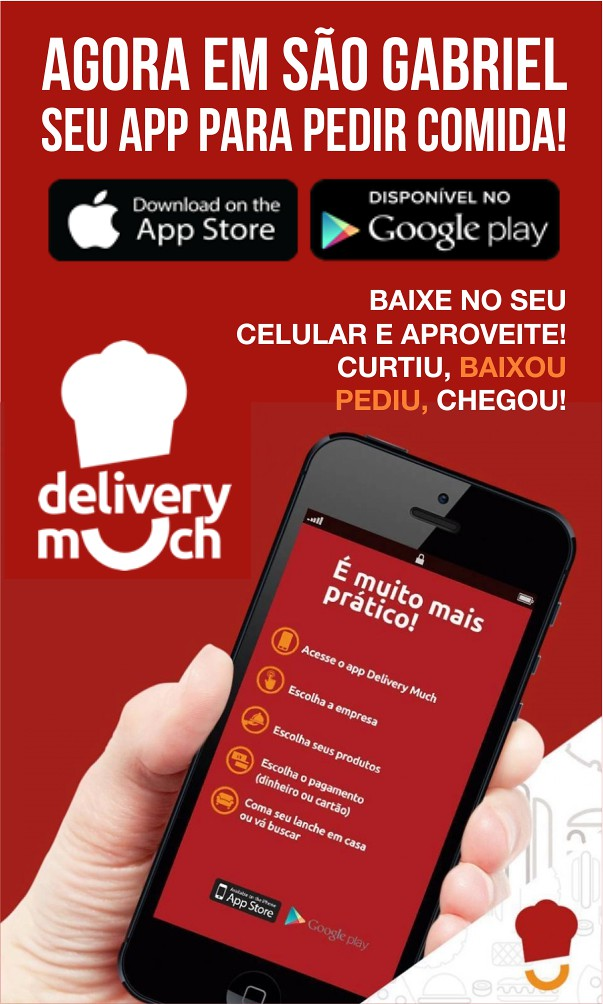 Delivery Much em São Gabriel - curtiu, baixou, pediu, chegou
