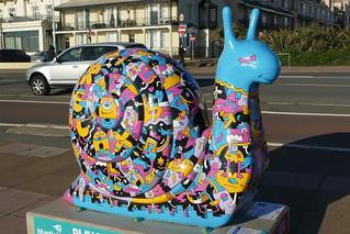 Image of Bandstand. westsussex brighton snailspace2018 snails publicsculpture misterphil
