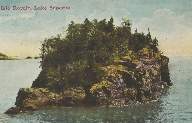 Photo:UP Houghton Hancock Isle Royale MI c.1908 Lone Boater in Rock Harbor BEFORE NATIONAL PARK later Keweenaws Rock Harbor became a Summer Resort destination National Park idea floated2 By UpNorth Memories - Donald (Don) Harrison