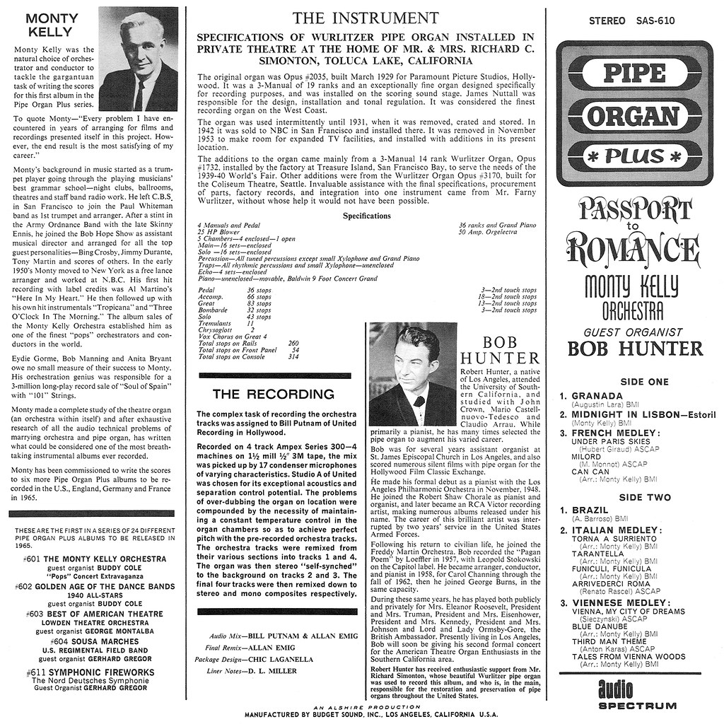 Bob Hunter, Monty Kelly, Passport to Romance
