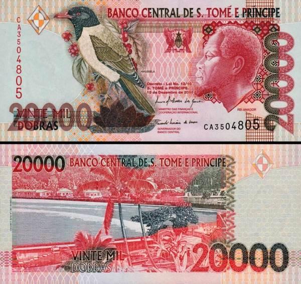 20 000 Dobras Svatý Tomáš a Princuv ostrov 1996, P67d