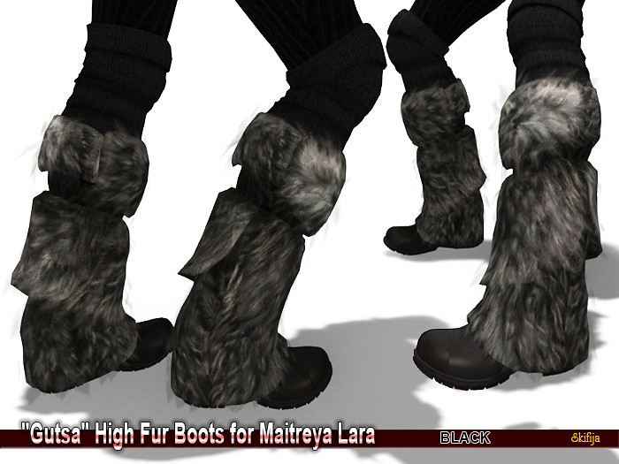SKIFIJA_Gutsa High Fur Boots (Black) for Maitreya Lara