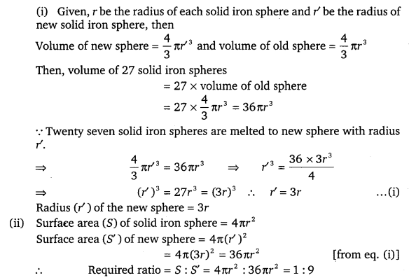 NCERT Solutions for Class 9 Maths Chapter 13 Surface Area and Volumes 68