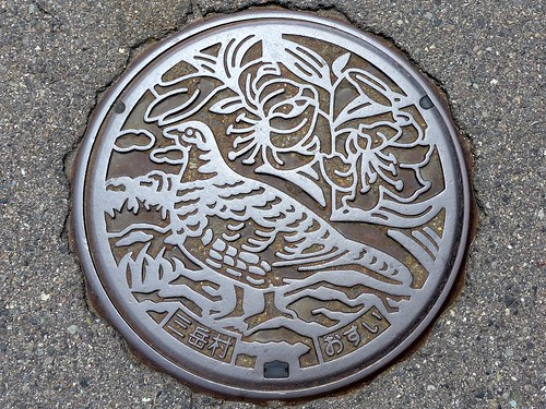 Mitake Nagano, manhole cover (長野県三岳村のマンホール)