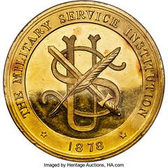 1881 U.S. Army Essay Prize Medal obverse