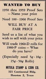 NUM Jly 1960 1154 Joe Mitula coin buying ad