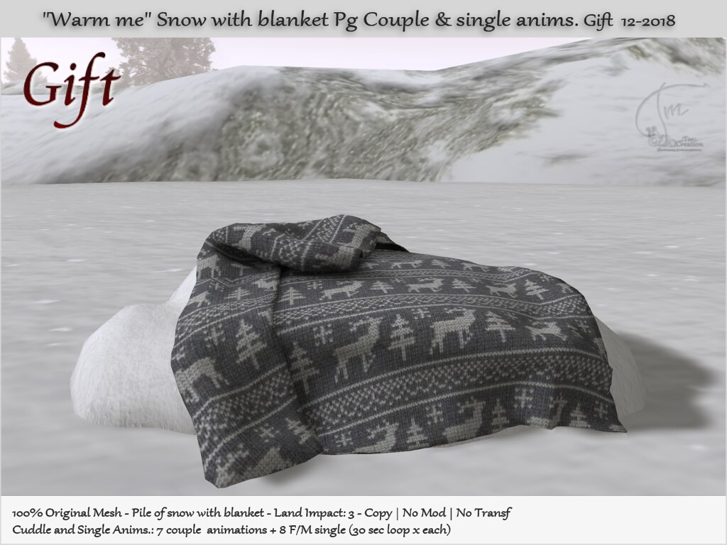 ".:Tm:.Creation ""Warm me"" Snow with blanket PG v1 GIFT - TeleportHub.com Live!"