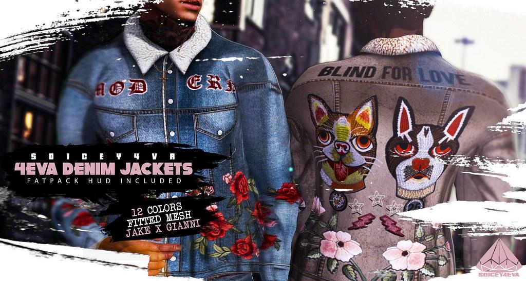 💎SOICEY4EVA💎  💎4EVA DENIM JACKETS ❄️ Now Available!