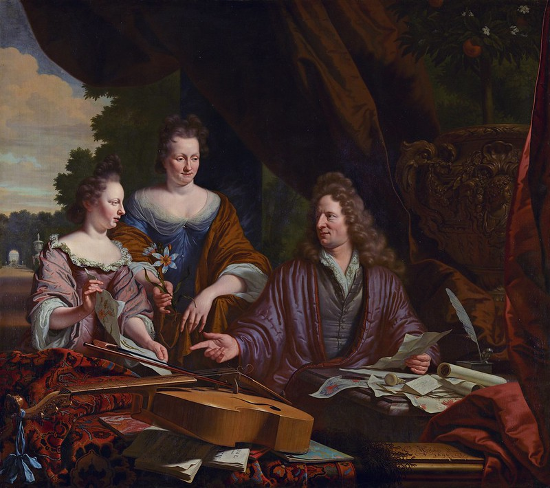 Michiel van Musscher - David, Agneta and daughter Catherina Neufville (1696)