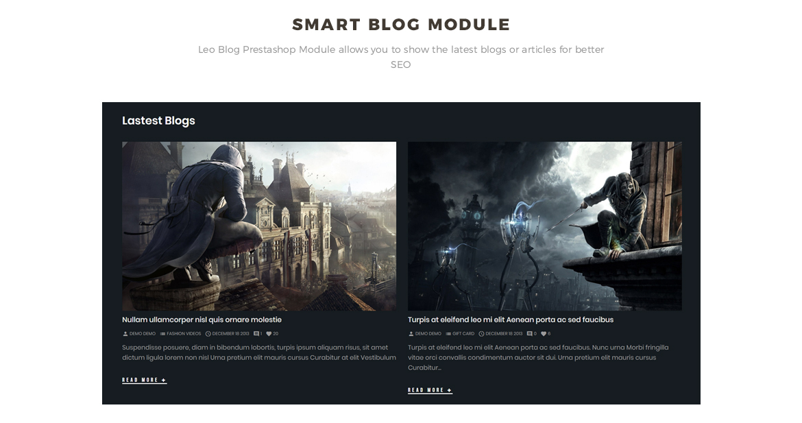 smart blog module - Leo Gamestop - Games Store Prestashop theme