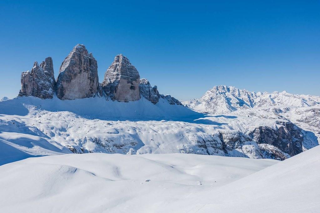 Tre Cime– lyžování