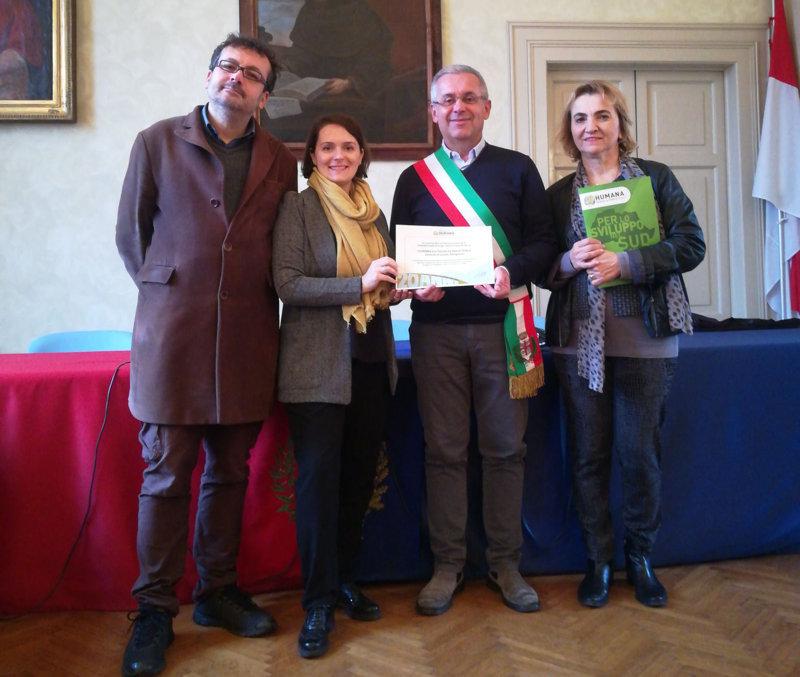 Il Comune di Castel Bolognese vince l'Humana eco-solidarity award 2018