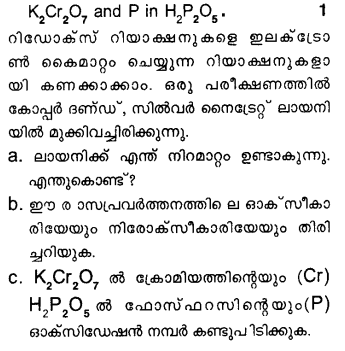 Plus One Chemistry Model Question Papers Paper 3Q28