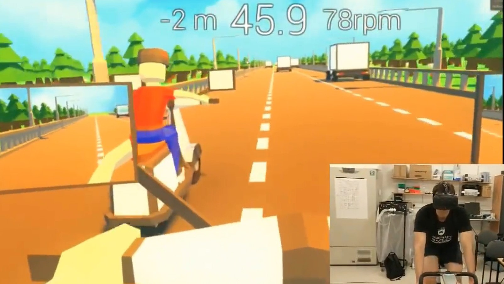 Example of a VR exergame.