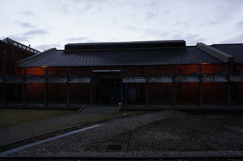 At Kanazawa Civic Art village in winter