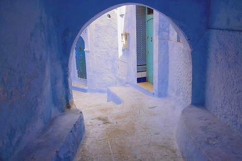 Blue moroccan arches