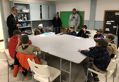 Rep. O'Neill was the guest speaker for Cub Scout Pack 162 from South Britain Congregational Church in Southbury where a  lively discussion about the legislative process took place. The Scouts even proposed several ideas, including limiting the school year to 100 days and eliminating homework.