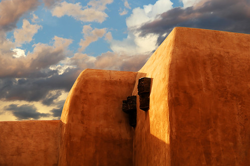 architecture art beauty bright building colorful colourful colors colours contrast dark design detail downtown edge light lines perspective pattern pretty scene shadow sky southwest study sunlight sunshine street texture tone world museum cloud storm adobe stucco viga wall sunset santafe newmexico