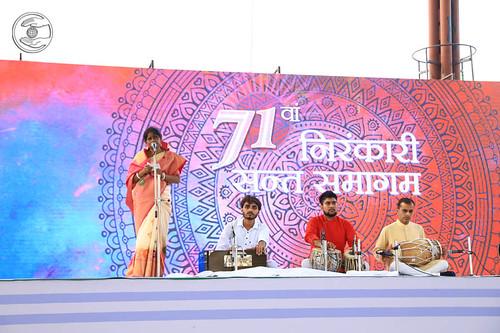 Behan Mithu Gorai delivered Bangla Geet, Panagarh, WB