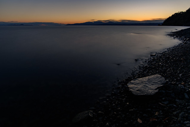 菅浦7・Sunset over Lake Biwa, Nikon D750, AF-S Nikkor 20mm f/1.8G ED