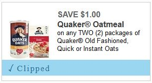 graphic relating to Quaker Printable Coupons identify 2 Refreshing Quaker Coupon codes: Help save $1/1 Quaker Oatmeal and $1/1 Chewy