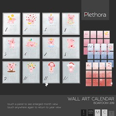 Plethora - Wall Art Calendar - Boar'dom 2019