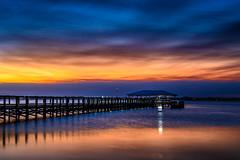 Sunset at the pier - Melbourne Beach, FL