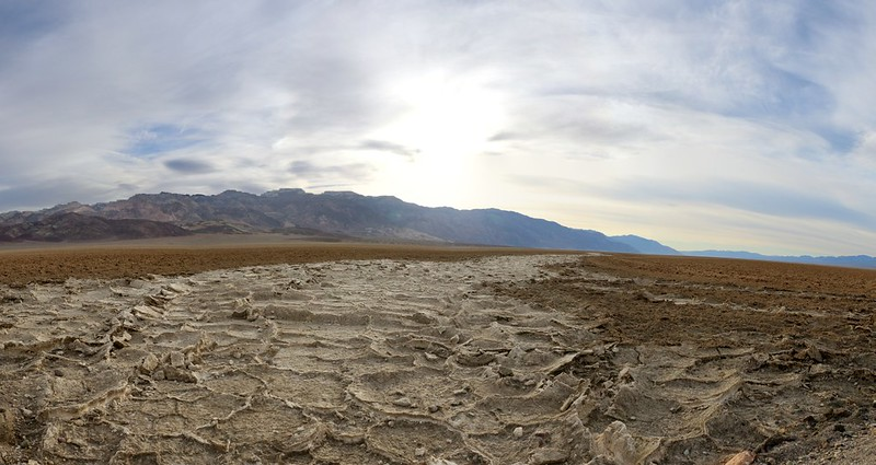 It looks like a river of salt running down the center of Death Valley, from the West Side Road