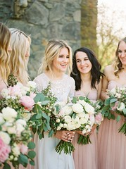 Wedding Bouquets : Classic blush and cream bouquets: www.stylemepretty... | Photography: Linnea Pau...