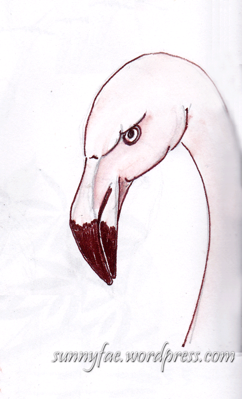 peeved pink flamingo
