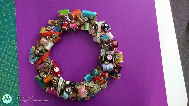Sewing room wreath