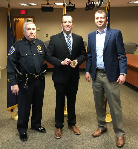 Officer Mark Ludwig Sworn in - Speedway Police