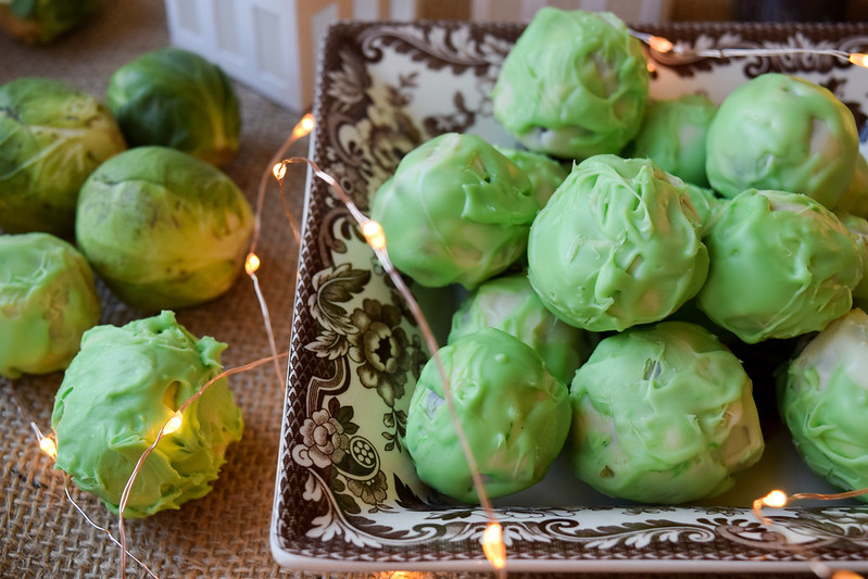 Boozy Brussels Sprout Chocolate Truffles with Cognac