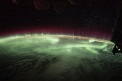The Earths aurora was take on board the International Space Station on June 25, 2017. Original from NASA. Digitally enhanced by rawpixel.