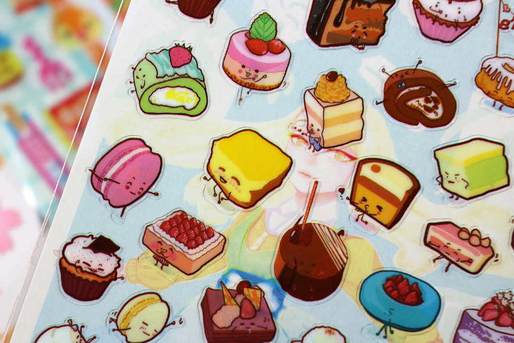 Sweet Dessert Emoji Transparent Stickers