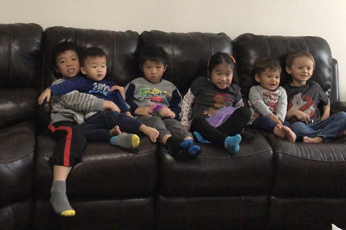All of the little cousins at our family get together last weekend!