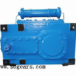 H3SH6 Parallel Shaft Helical Gearbox with cooler for Rubber