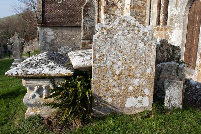 John and Sarah Bartlett headstone, Litton Cheney