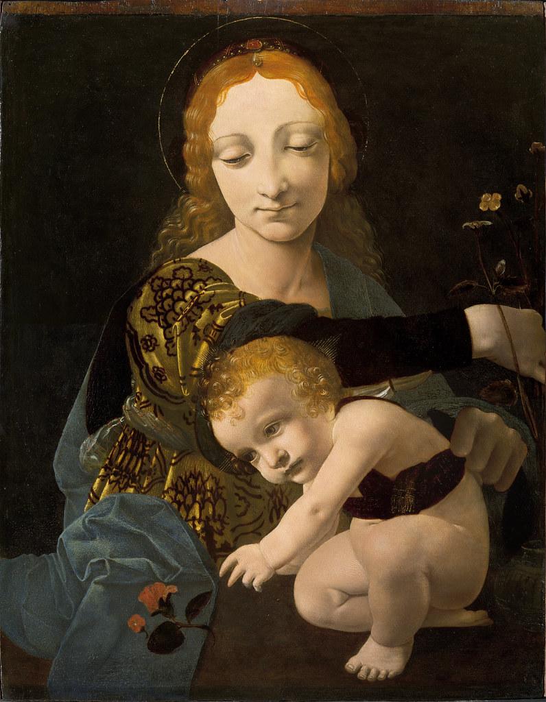 Giovanni Antonio Boltraffio - The Virgin and Child (The Madonna of the Rose) (1480)