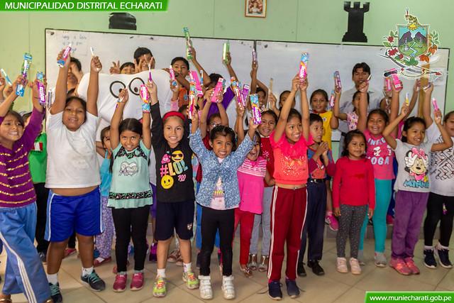 Charlas informativas de buenos hábitos de higiene en la I.E. José María Arguedas