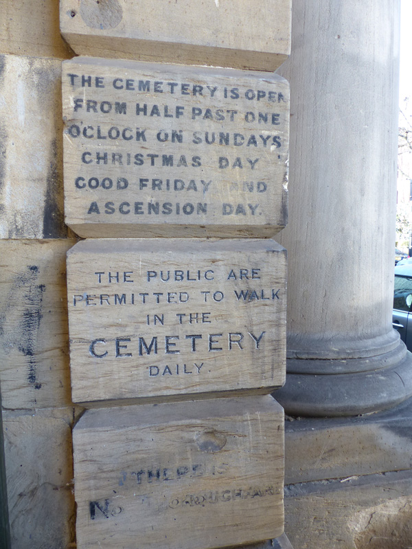 the cemetery is open