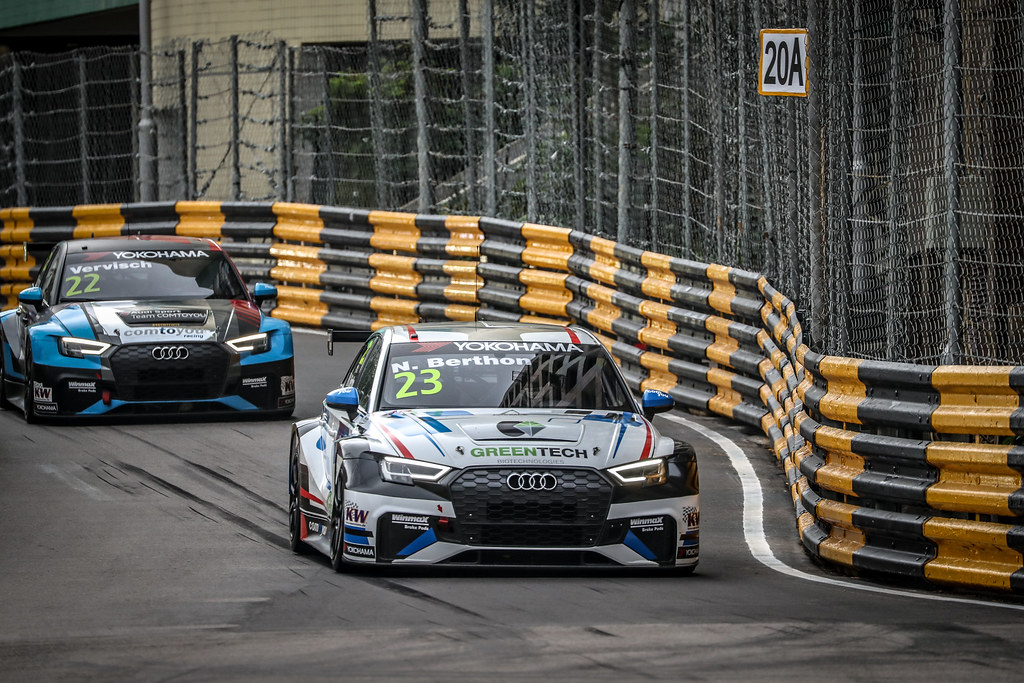 23 BERTHON Nathanael, (fra), Audi RS3 LMS TCR team Comtoyou Racing, action during the 2018 FIA WTCR World Touring Car cup of Macau, Circuito da Guia, from november  15 to 18 - Photo Alexandre Guillaumot / DPPI