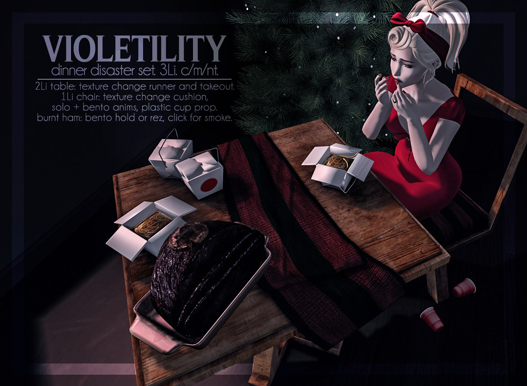 Violetility - Dinner Disaster Set - TeleportHub.com Live!